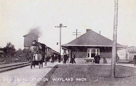 PRR Wayland Depot with Train